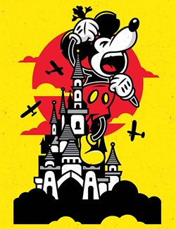 Corey Reifinger's illustration is featured in the Mickey Mouse Arthouse exhibit